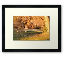 Bathing in the Light of a Fading Day Framed Print