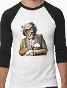 Catt Matt Smith posed as Dos Equis Interesting Man Men's Baseball ¾ T-Shirt
