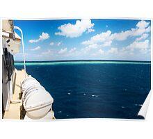 Approaching Ribbon Reef No 9 Poster