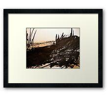 round river rock... Framed Print