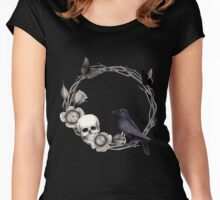 Spooky Nature Women's Fitted Scoop T-Shirt