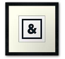"Alphabet ""&"" Framed Print"