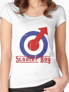 Retro look scooter boy mod target design Women's Fitted Scoop T-Shirt