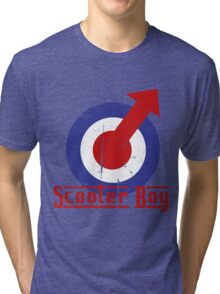 Retro look scooter boy mod target design Tri-blend T-Shirt
