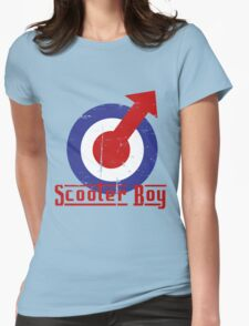 Retro look scooter boy mod target design Womens Fitted T-Shirt