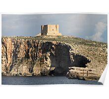 Comino Cliffs & Fort, Malta Poster