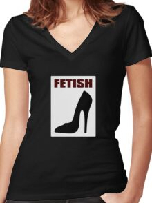 FETISH - Highly Erotic High Heels Women's Fitted V-Neck T-Shirt
