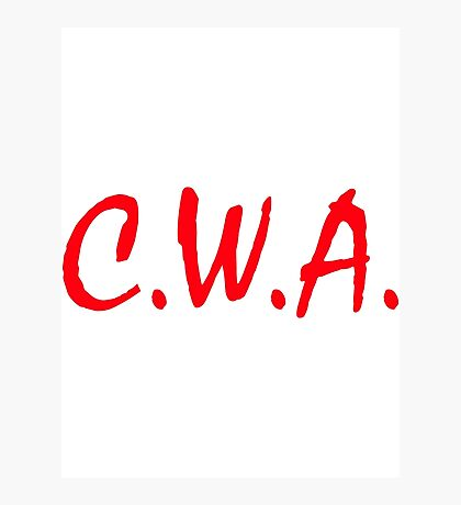 C. W. A. Crackas Wit Attitudes Photographic Print