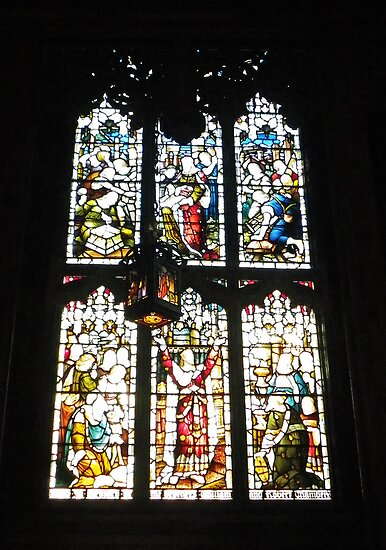 Stained Glass, St Giles Cathedral, Edinburgh by Dawn (Paris) Gillies