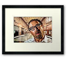 Adelaide Train Station. ALL ARE BORED! Framed Print