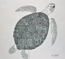 Paisley Turtle by Joshua  Whitehead