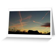 Contrails 10 Greeting Card