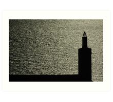 Chimney By The Sea Art Print