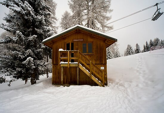 Two Storey Ski Toilet by Crispel