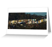 Colourful Bristol Harbourside Houses  Greeting Card