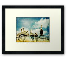 Keep You're Head In The Clouds Framed Print