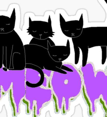 Chillin Kitties Sticker