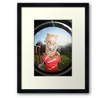 wolf in the sunshine  Framed Print