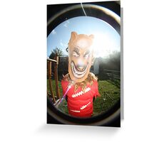 wolf in the sunshine  Greeting Card