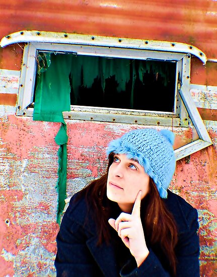 Self Portrait, Abandoned Camper by MJD Photography  Portraits and Abandoned Ruins