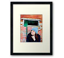 Self Portrait, Abandoned Camper Framed Print