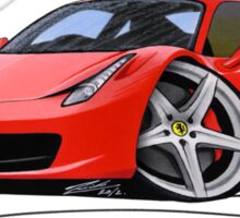 Ferrari 458 Italia Red Sticker