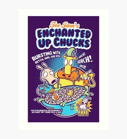 Enchanted Up Chucks Art Print