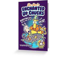 Enchanted Up Chucks Greeting Card