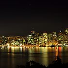 San Francisco and the Bay Bridge @ Nite by Bob Moore