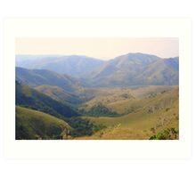 Drakensberg Mountain Range - Swaziland Art Print