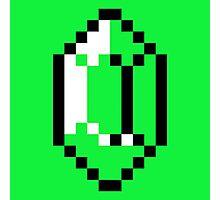 Green Pixel Rupee The Legend of Zelda Photographic Print