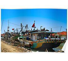 Fishermen's Boat Poster