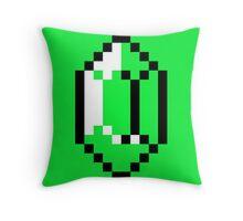 Green Pixel Rupee The Legend of Zelda Throw Pillow