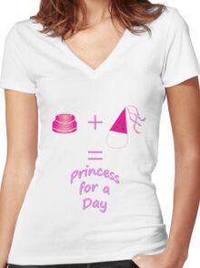 Birthday Princess Women's Fitted V-Neck T-Shirt