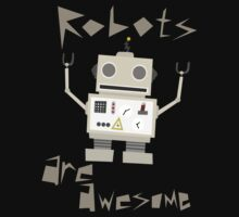 Robots Are Awesome Kids Tee