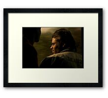 With the Wind in his Hair Framed Print