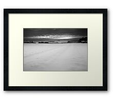 A Cut Across Winter's Cold White Veil Framed Print