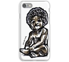 Baby with an afro iPhone Case/Skin