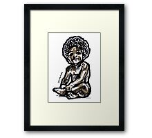 Baby with an afro Framed Print