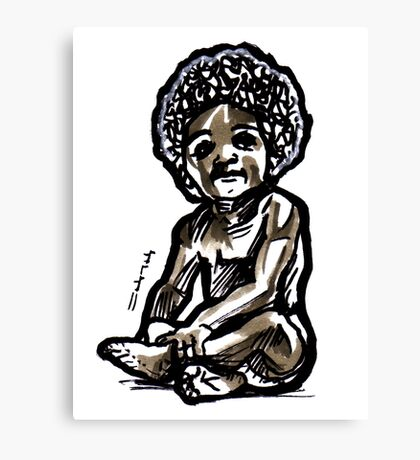Baby with an afro Canvas Print