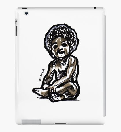 Baby with an afro iPad Case/Skin