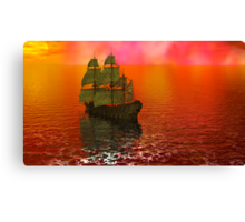 Flying Dutchman in Bermuda Triangle panel 2 Canvas Print