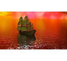 Flying Dutchman in Bermuda Triangle panel 2 Photographic Print