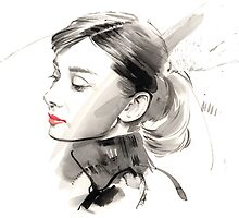 Audrey Hepburn by Gary Wing