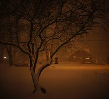 Snowstorm on Nowlen by laurelkeeley