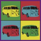 VW camper pop art  by Chris-Cox