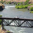 Trucking Over The Deschutes  by Don Siebel