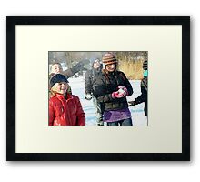 snowing thoughts Framed Print
