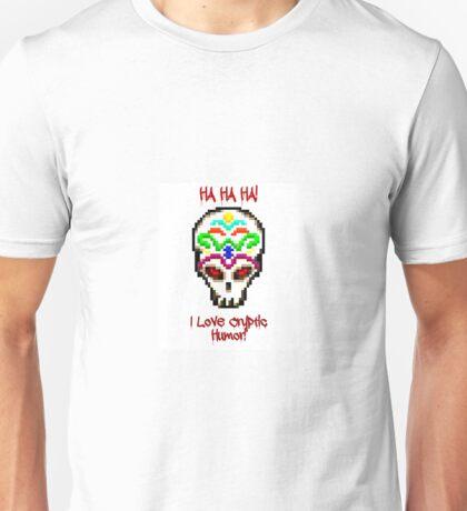 """I Love Cryptic Humor"" Skin Unisex T-Shirt"