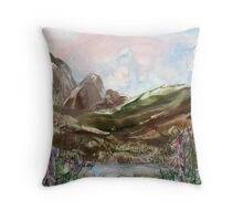 Rain in the hills Throw Pillow